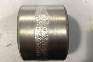 Prova di piega longitudinale su giunto saldato in acciaio al 9 di nichel / Longitudinal bending test on 9% nickel-steel welded joint